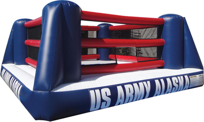 inflatable boxing ring for as army events and training