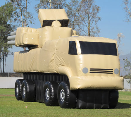 inflatable truck for military shooting practice and drills