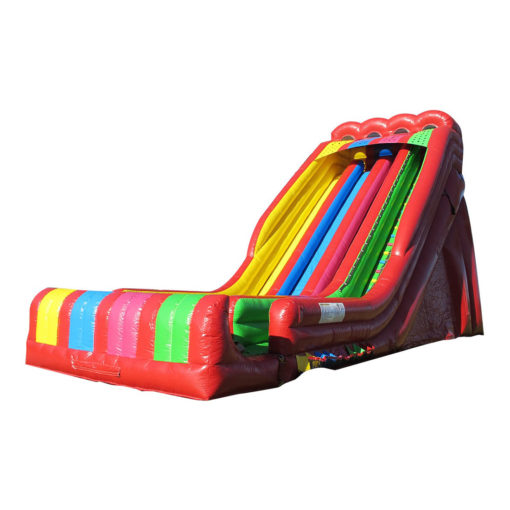 inflatable slide multiple lanes outdoor game for adults and kids tall slide