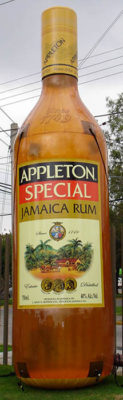 inflatable product replica jamaica rum bottle lifesize