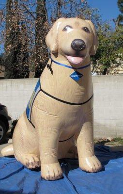big inflatable dog custom made for branded event marketing