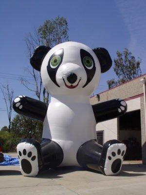 huge inflatable panda custom made animal for advertising