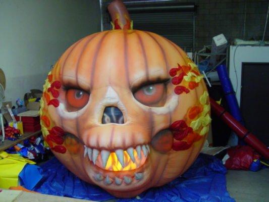 custom inflatable pumpkin shape for halloween event