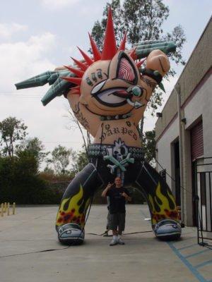custom inflatable shape large punk person
